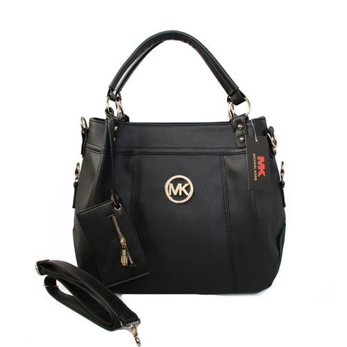 Michael Kors Logo With a packet Large Black Satchels