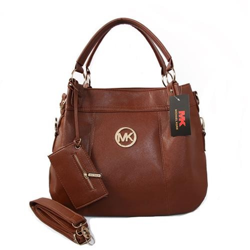 Michael Kors Logo With a packet Large Brown Satchels