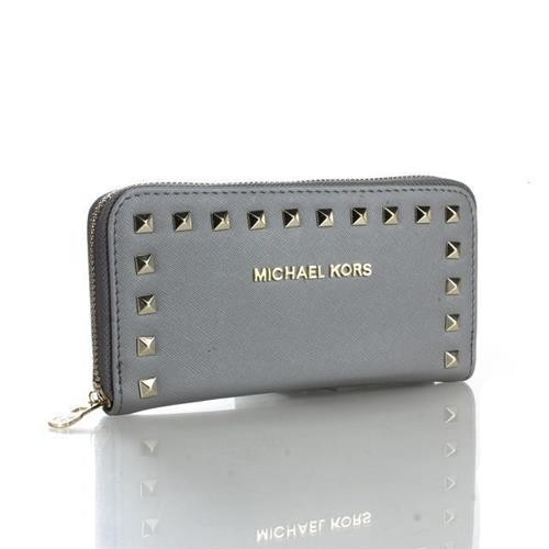 Michael Kors Selma Stud Logo Small Grey Wallets