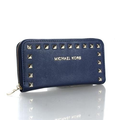 Michael Kors Selma Stud Logo Small Navy Wallets
