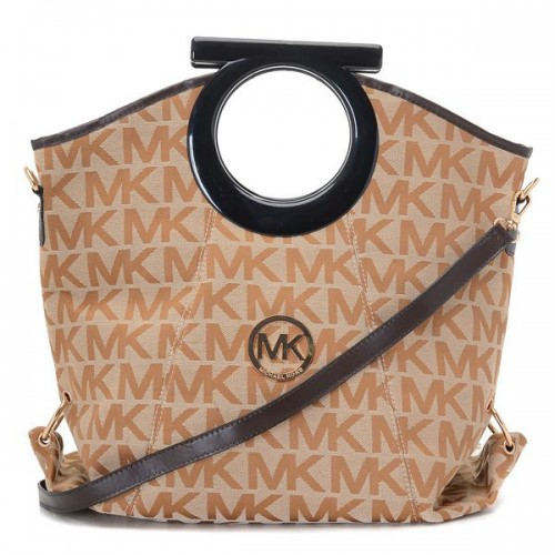Michael Kors Berkley Logo Large Beige Clutches