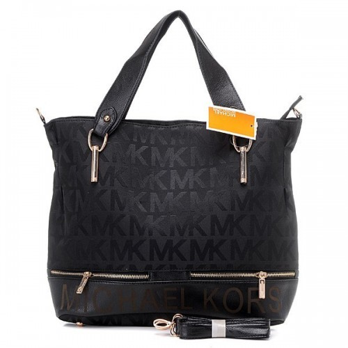 Michael Kors Classic Monogram Large Black Totes