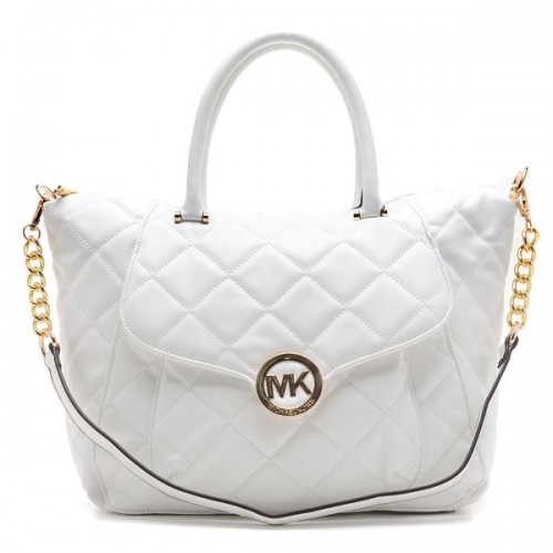 Michael Kors Satchel - Fulton Quilted White