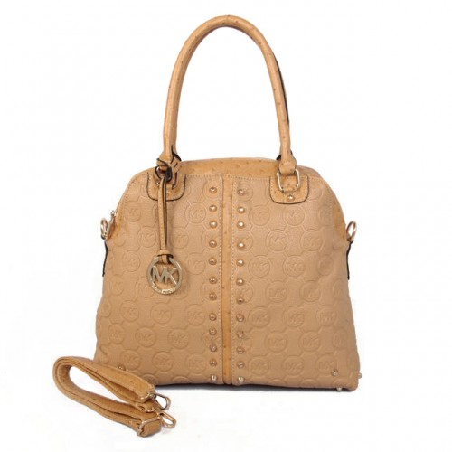 Michael Kors Bedford Bowling Medium Beige Satchels