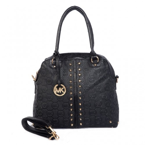 Michael Kors Bedford Bowling Medium Black Satchels