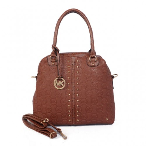 Michael Kors Bedford Bowling Medium Brown 001 Satchels