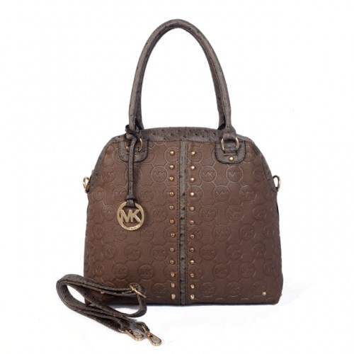 Michael Kors Bedford Bowling Medium Brown Satchels