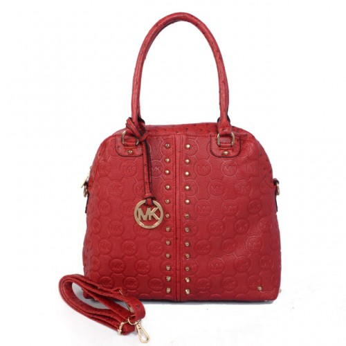 Michael Kors Bedford Bowling Medium Red Satchels
