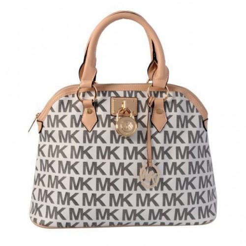 Michael Kors Bedford Logo Medium Grey Satchels