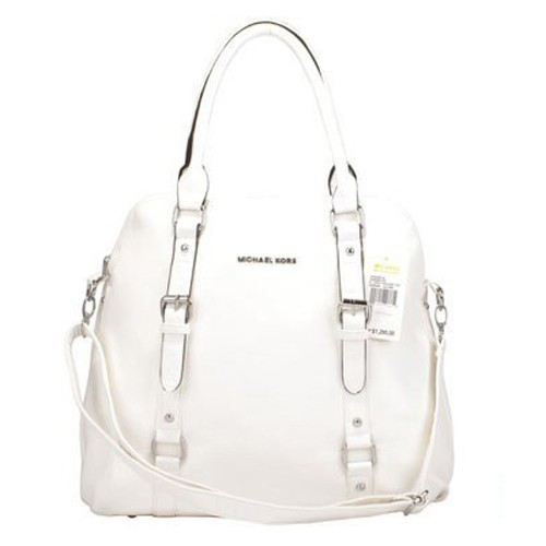 Michael Kors Bowling Large White Satchels