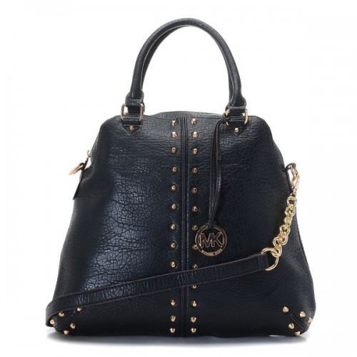 Michael Kors Bowling Stud Medium Black Satchels