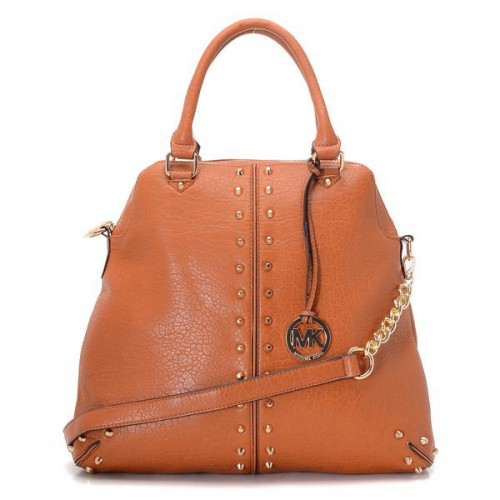 Michael Kors Bowling Stud Medium Brown 001 Satchels