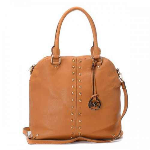 Michael Kors Bowling Stud Medium Brown Satchels