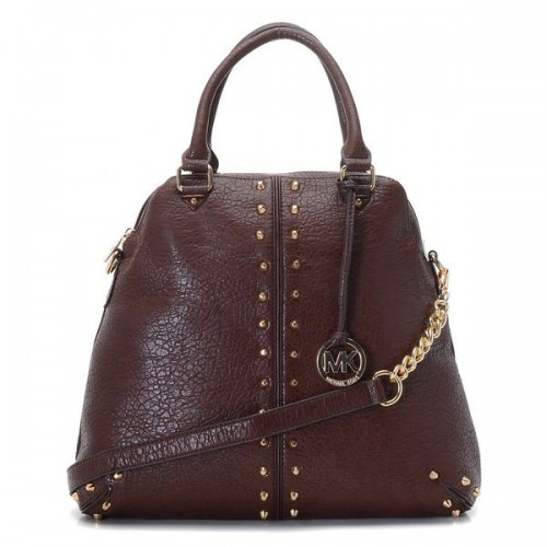 Michael Kors Bowling Stud Medium Coffee Satchels