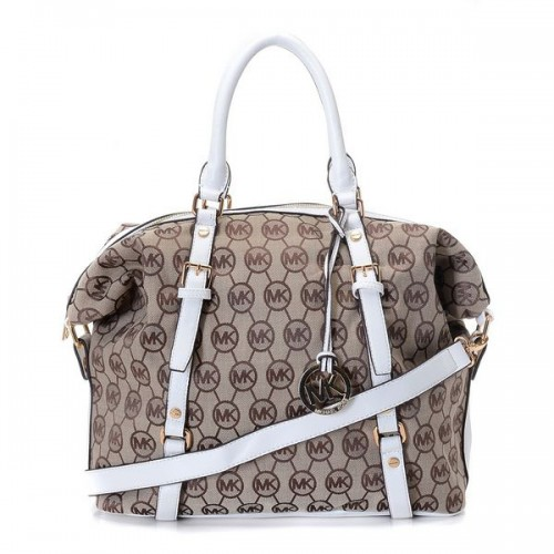 ichael Kors Bedford Bowling Medium Beige 0002 Satchels