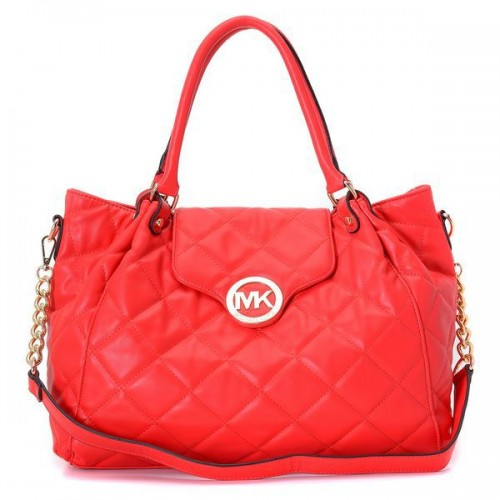 Michael Kors Fulton Quilted Large Red 001 Satchels