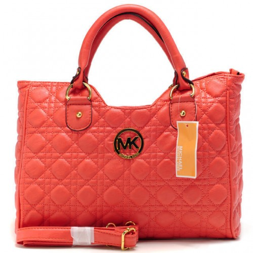 Michael Kors Fulton Quilted Large Red Satchels