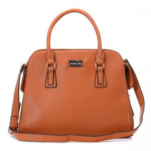 Michael Kors Gia Leather Large Brown 001 Satchels