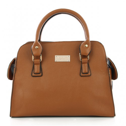 Michael Kors Gia Leather Large Brown 002 Satchels