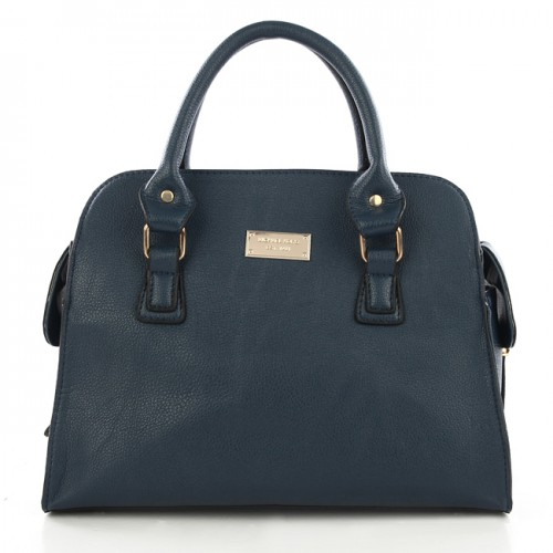 Michael Kors Gia Leather Large Navy Satchels
