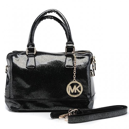 Michael Kors Fluorescence Medium Black Satchels
