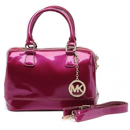 Michael Kors Fluorescence Medium Fuchsia Satchels