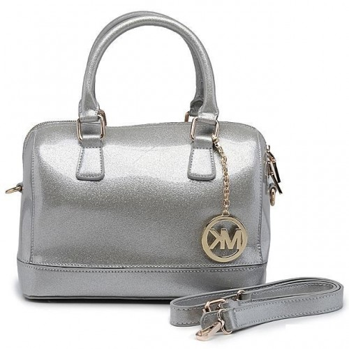 Michael Kors Fluorescence Medium Silver Satchels