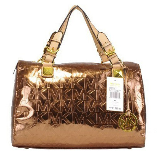 Michael Kors Grayson Logo Large Bronze 003 Satchels