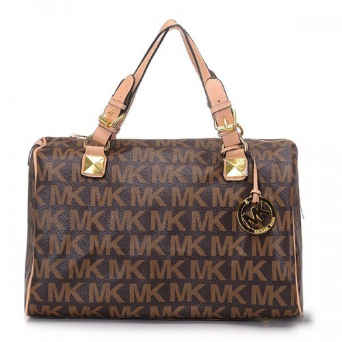 Michael Kors Grayson Logo Large Brown 015 Satchels