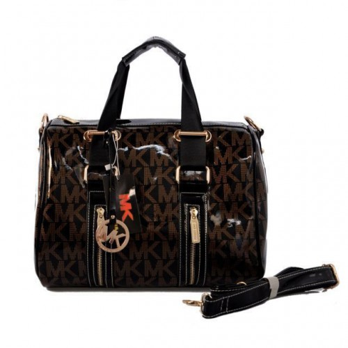 Michael Kors Grayson Logo Large Coffee 063 Satchels