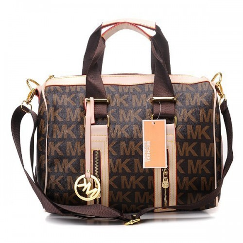 Michael Kors Grayson Logo Large Coffee 154 Satchels