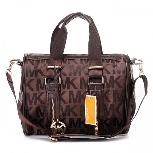 Michael Kors Grayson Logo Large Coffee 24 Satchels