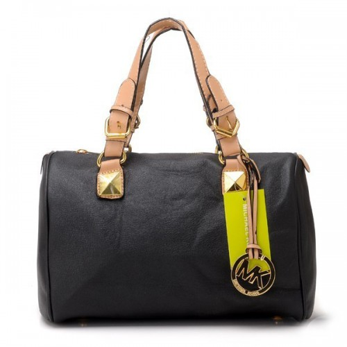 Michael Kors Grayson Medium Black Satchels