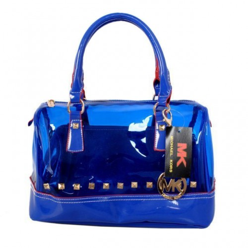 Michael Kors Grayson Plastic Medium Blue 001 Satchels