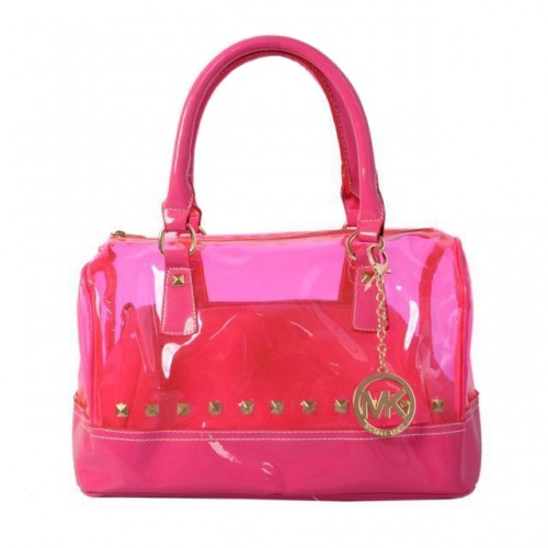 Michael Kors Grayson Plastic Medium Pink 001 Satchels