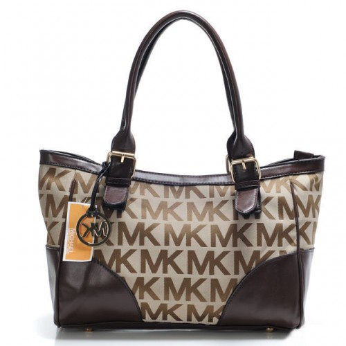 Michael Kors Logo Large Brown Satchels