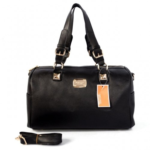 Michael Kors Logo Medium Black Satchels