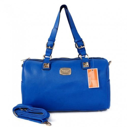 Michael Kors Logo Medium Blue Satchels