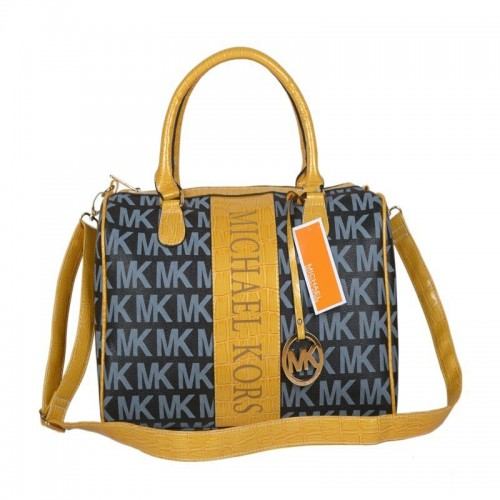 Michael Kors Logo Medium Navy Satchels