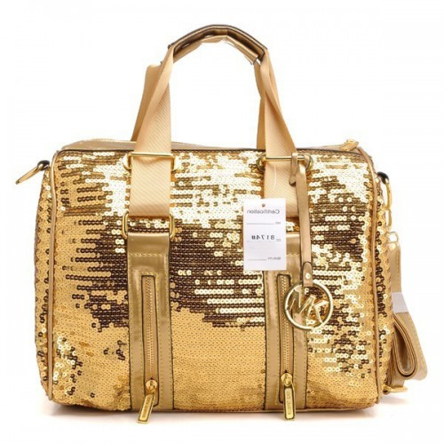 Michael Kors Sequins Large Gold 005 Satchels