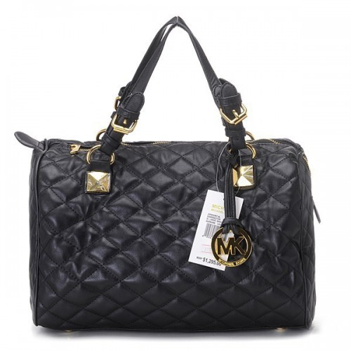 Michael Kors Sloan Quilted Large Black Satchels