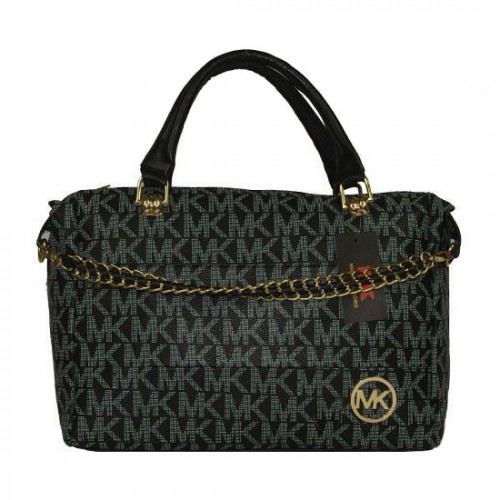Michael Kors Chain Large Black Satchels