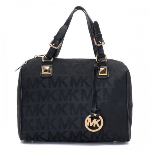 Michael Kors Grayson Medium Logo Satchel Black