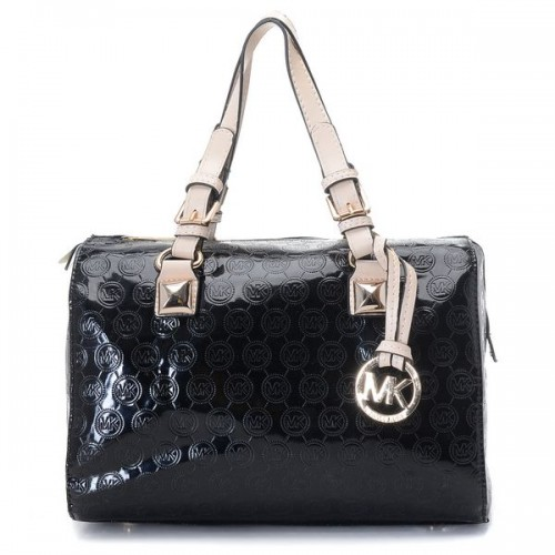 Michael Kors Grayson Medium Monogram Satchel Black