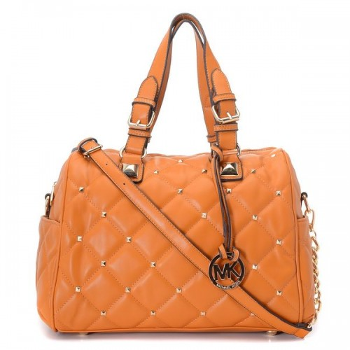 Michael Kors Stud Quilted Satchel Luggage