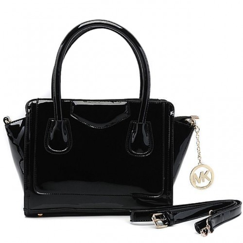 Michael Kors Smooth Leather Large Black Satchels