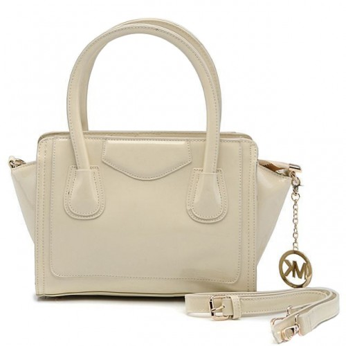 Michael Kors Smooth Leather Large White Satchels