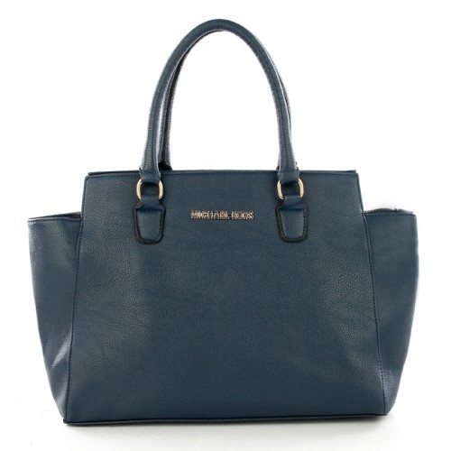 Michael Kors Top-Zip Logo Large Navy Satchels