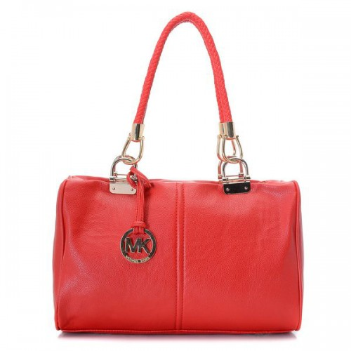 Michael Kors Skorpios Zip-Top Medium Red Satchels