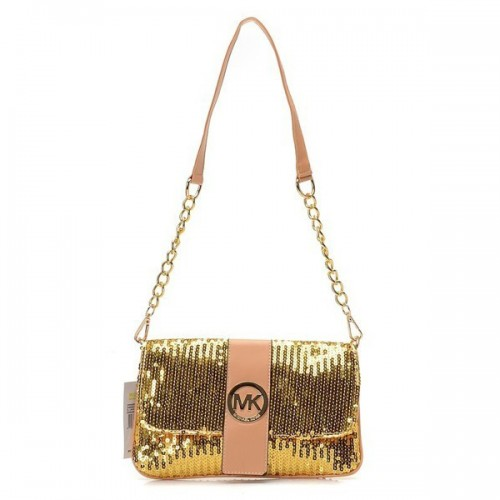 Michael Kors Fulton Messenger Small Gold Shoulder Bags